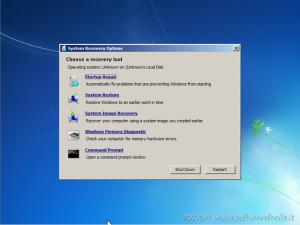 Sistema di ripristino Windows 7