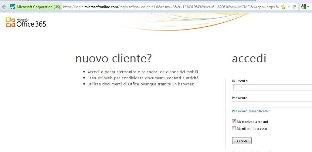 "Office 365 e Exchange Online + Diritti di ""Full Access"" sulle cassette postali"