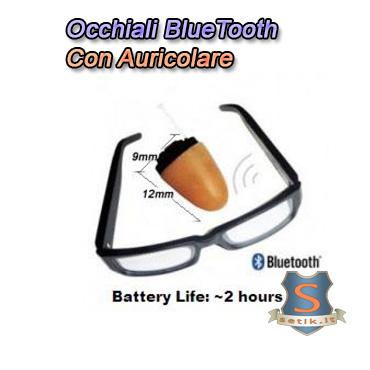 Auricolare su Occhiali MicroSpy Bluetooth Invisibile