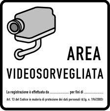 Area Videosorvegliata - Cartello TVCC