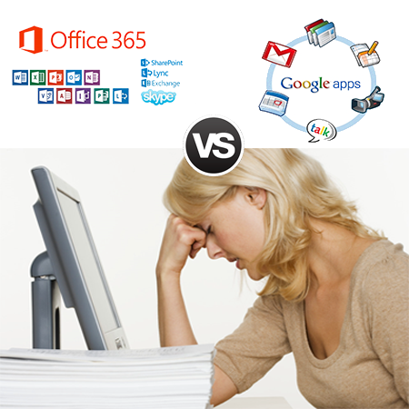 Microsoft Office 365 vs Google apps for Work ? differenze a confronto tra Office 365 e Gmail for business