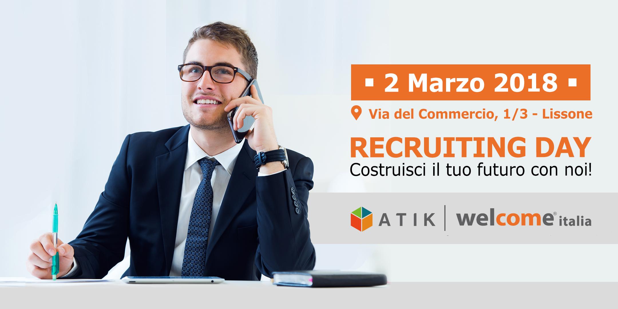 Atik e Welcome lanciano il primo Recruiting Day