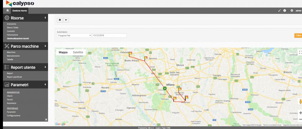 Software gestionale Geolocalizzazione