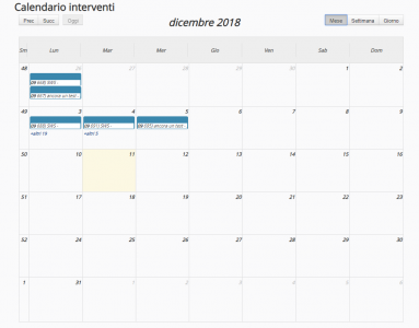 Gestione Calendario